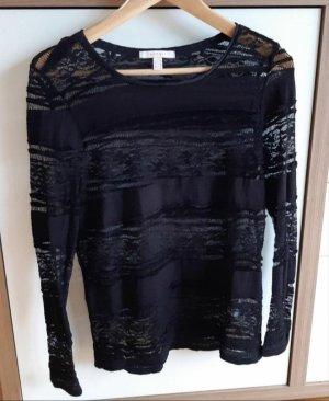 Esprit Top en maille crochet noir