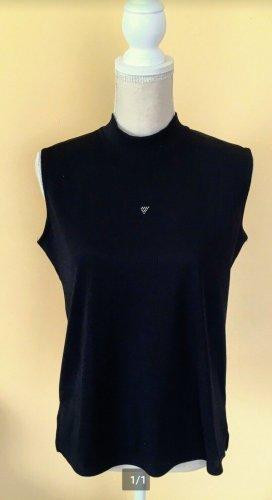 Camisa de cuello de tortuga negro