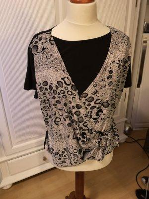Waterval shirt wit-zwart