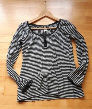 Shirt schwarz weiß gestreift Gr.S von H&M