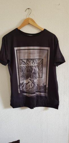 Shirt schwarz/weiß mit Aufdruck von ESPRIT