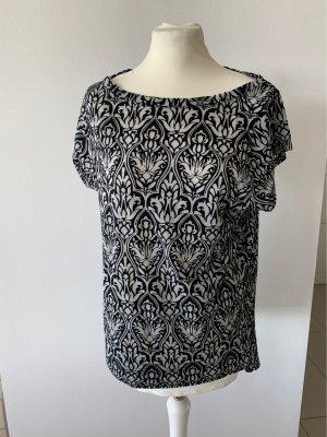 Sisley Camisa tipo Carmen negro-gris claro