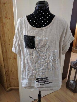 Shirt Sommershirt Beige Einheitsgröße Rismel Italien Neu