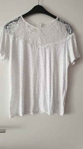 Shirt Spitze H&M gr M weiß