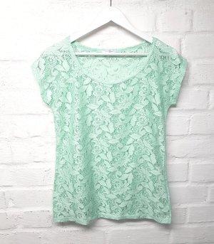 Sutherland Top maillé vert menthe-vert clair polyester