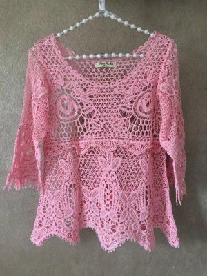 Shirt Spitze rosa 3/4-Arm Gr. S