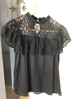 SheIn Carmen shirt zwart Polyester
