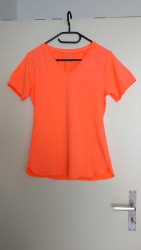 Shirt, Sport, Nike, Neon, Orange, Gr. S, Neu, atmungsaktiv