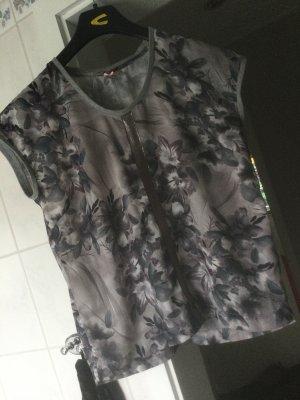 Shirt sportlich elegant in grau/silber