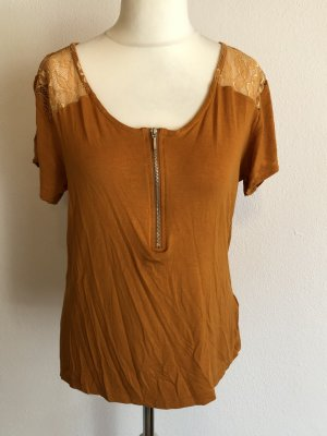 Shirt T-Shirt Bluse gold orange Gr. 40 NEU
