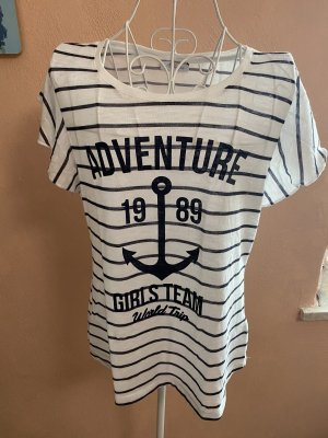 Aniston T-shirt bianco-blu scuro