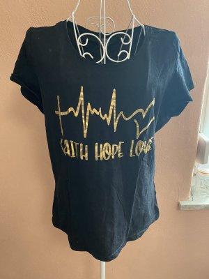 Blind Date T-shirt nero-oro