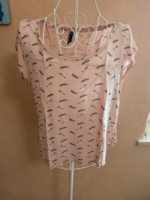 Blind Date T-shirt rosa pallido-nero