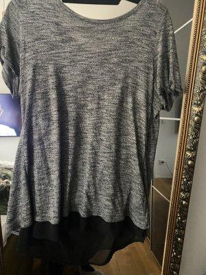 Shirt T-shirt grau schwarz XL