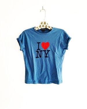 shirt • t-shirt • I love NY • blue • vintage