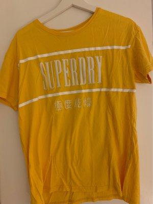 Shirt T-Shirt Superdry Original gelb ocker Shirt kurzarm
