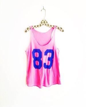 shirt • tanktop • vintage • rosa • blau
