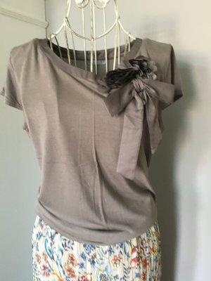 H&M T-shirt szaro-brązowy