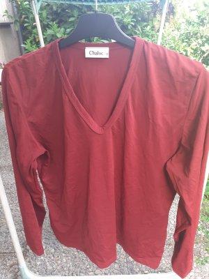 Shirt terracotta Chaloc Longsleeve Gr. 42