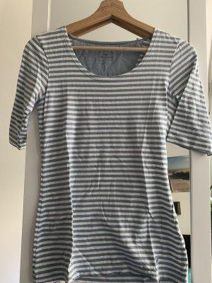 Tom Tailor Lang shirt wit-leigrijs