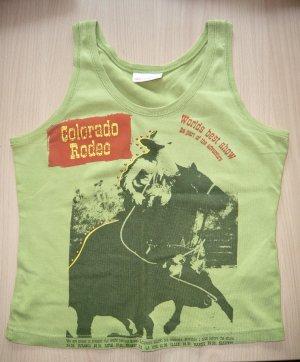Shirt Top ärmellos von GIn Tonic Cowgirl GR M 40/42 apfelgrün