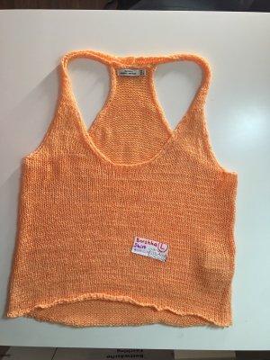 Bershka Camicia maglia arancione-color carne