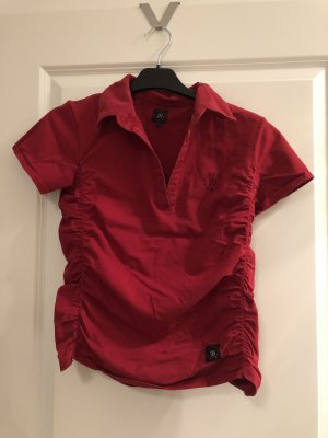 Shirt Top Bluse Gr. S / M Hemd Sommer rot Polo