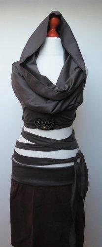 Camisa cruzada marrón oscuro-marrón-negro Algodón