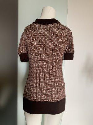 Orsay Empire Waist Shirt black brown-white