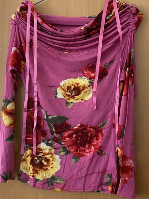 Top col bénitier violet-rose
