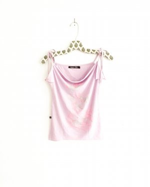 shirt / top / rosa / flieder / vintage / 80s / 90s / boho