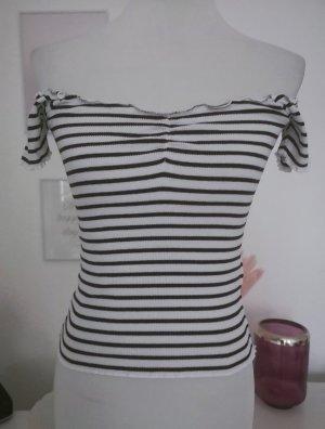FB Sister Camisa tipo Carmen blanco-negro