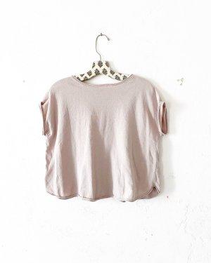 shirt • top • stefanel • malve • altrosa • bohostyle • casual • feinstrick
