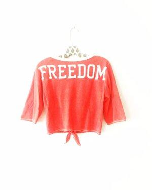 shirt • top • t-shirt • free people • korallfarben • freedom • bohostyle