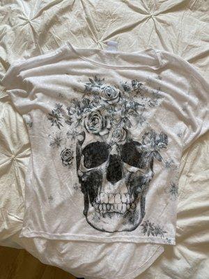 Shirt Tshirt Totenkopf Rosen Party