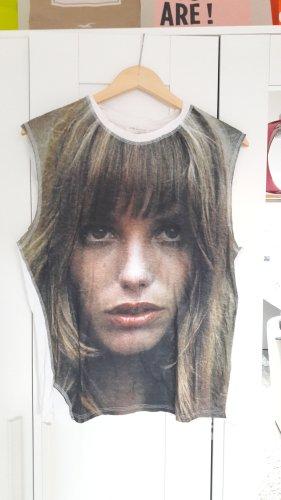 Shirt Tshirt von Zara Größe L mit Gesicht