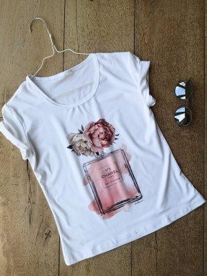 Shirt tshirt weiß rosa