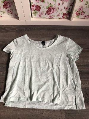 Shirt Türkis spitze leicht durchsichtig top t-Shirt neon hellblau