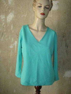 S.Marlon T-shirt col en V turquoise polyamide