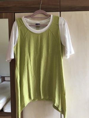 Cecil Manica lunga bianco-verde prato Cotone