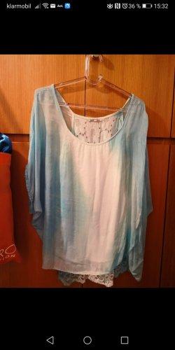 keine Marke bekannt Camisa tipo túnica blanco-azul