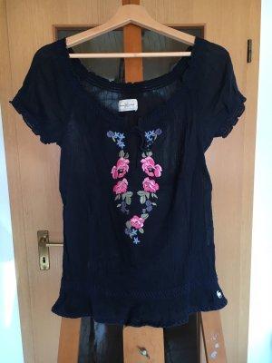 Shirt Tunika Bluse Abercrombie & Fitch Blumen Stickerei
