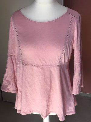 Boden Top linea A rosa pallido Cotone
