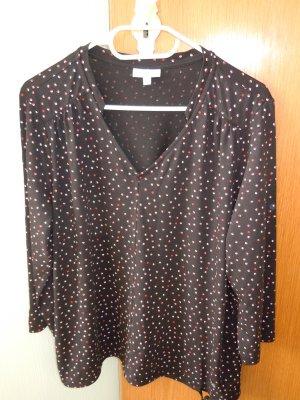 Sure Camicia a tunica nero-rosso mattone Cotone