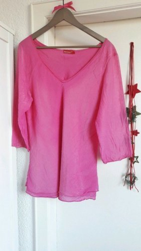 Shirt Tunika Seide pink oversize