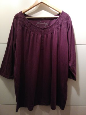 Laura Torelli Camisa tipo túnica violeta oscuro