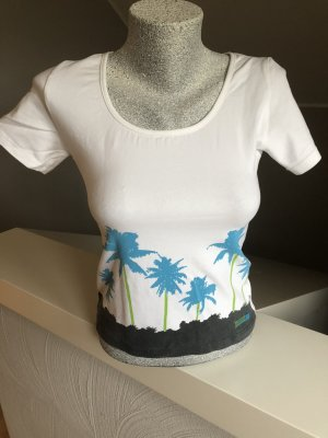 Venice beach T-shirt de sport blanc-turquoise