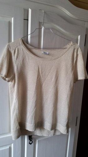 H&M Camisa de cuello barco color oro