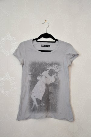 Shirt Vintagelook Printshirt Zara Outlet Kiss Basic Faded