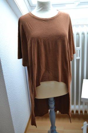 Shirt Vokuhila Kurzarm  camel cognac braun Bershka